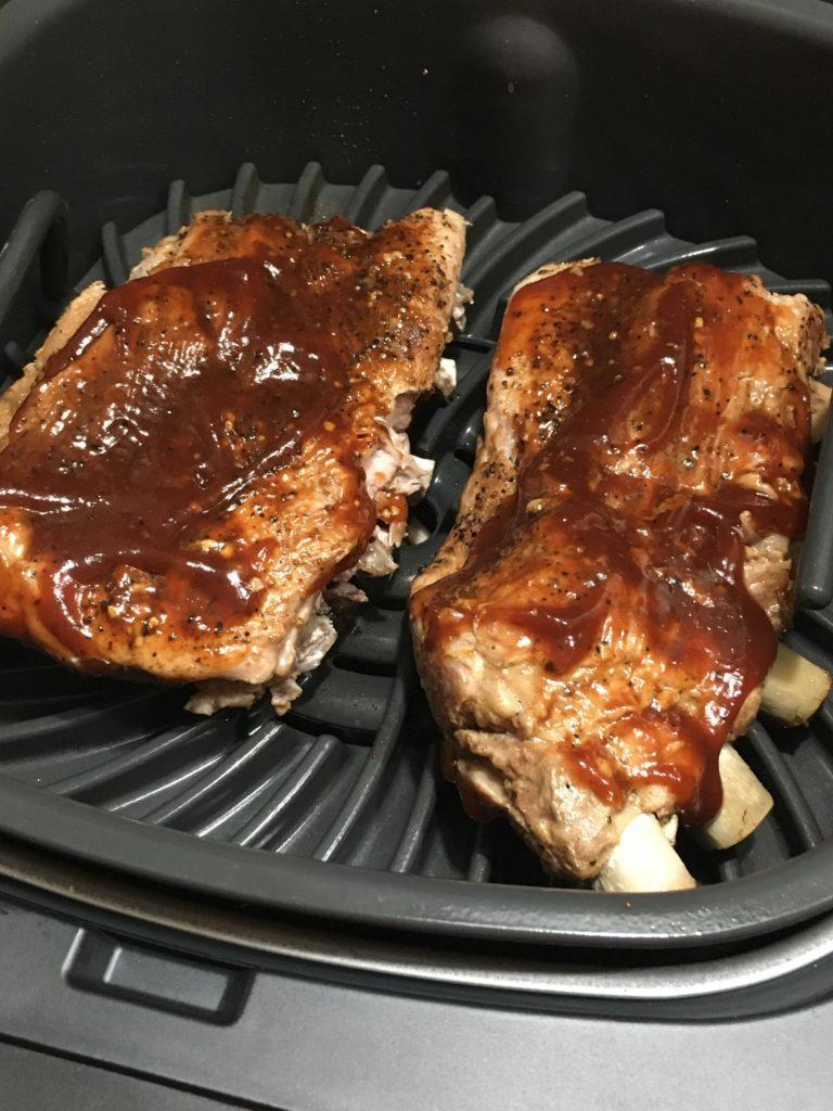 Add BBQ ribs to Ninja Grill