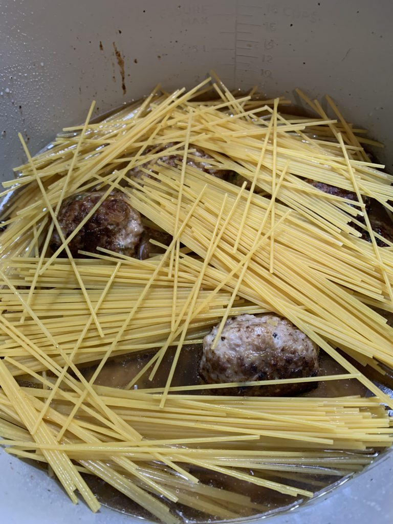 Layer of spaghetti