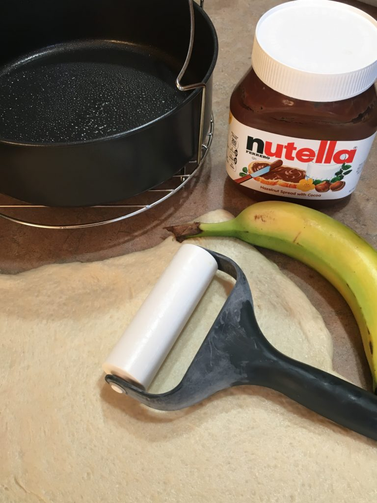 Choclat Banana Calzone ingredients
