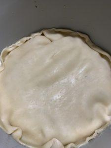 Pie crust positioning