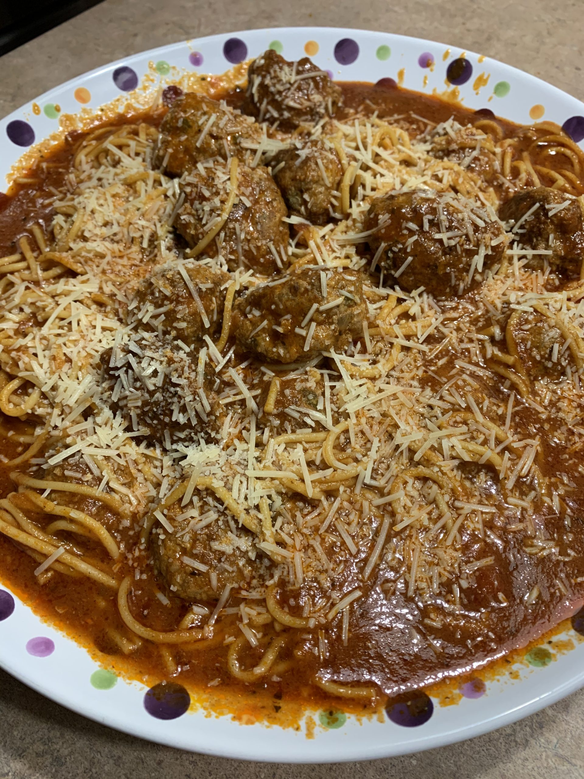 Ninja Foodi Spaghetti and Meatballs